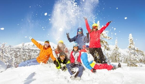 family snowboarding 2
