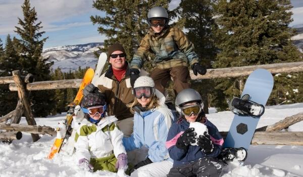 family snowboarding 4