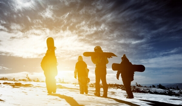family snowboarding 5