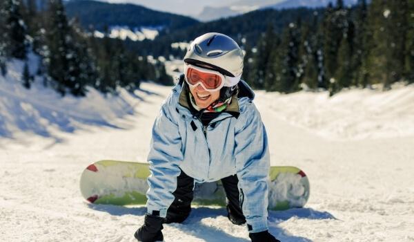 learning snowboarding beginner