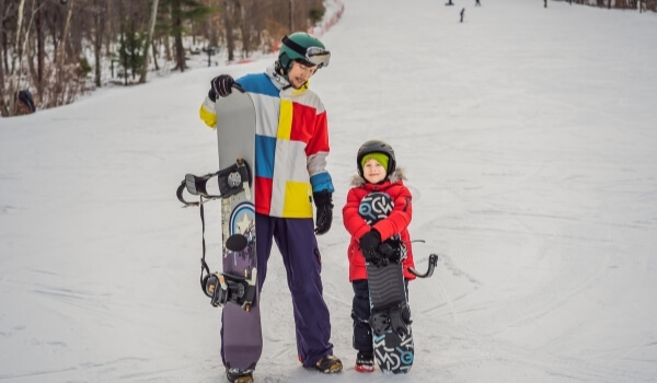 teach snowboarding